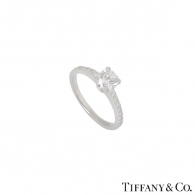 Tiffany & Co. Cushion Cut Diamond Ring in Platinum 0.71ct E/VS1